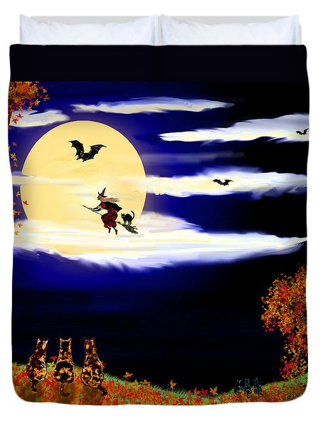 Halloween Night Duvet Cover by Michele Avanti