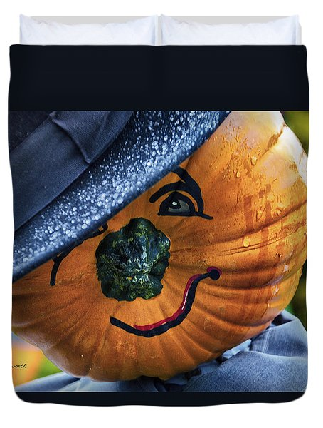 Halloween Pumpkin 02 Duvet Cover by Thomas Woolworth