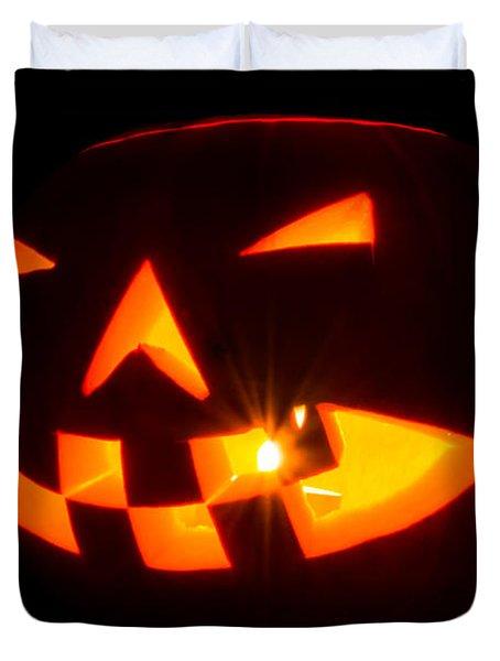 Halloween - Smiling Jack O' Lantern Duvet Cover