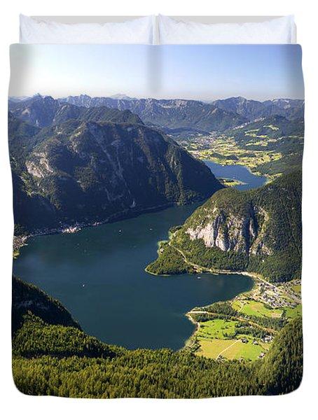 Hallstatt Lake Austria Duvet Cover by Chevy Fleet