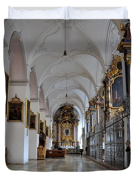 Hallway Of A Church Munich Germany Duvet Cover by Imran Ahmed