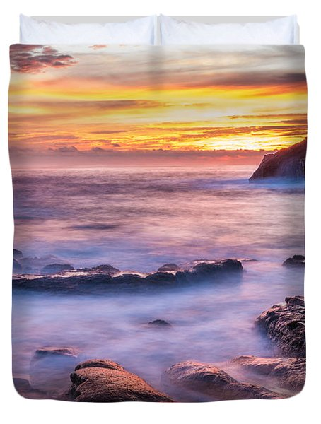 Halona Cove Sunrise 3 Duvet Cover