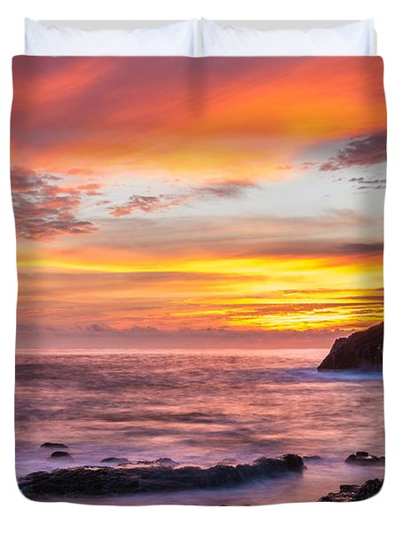 Halona Cove Sunrise 4 Duvet Cover