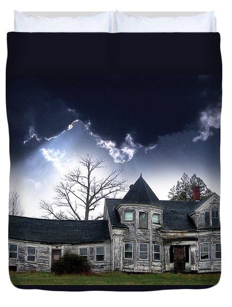Haloween House Duvet Cover by Skip Willits