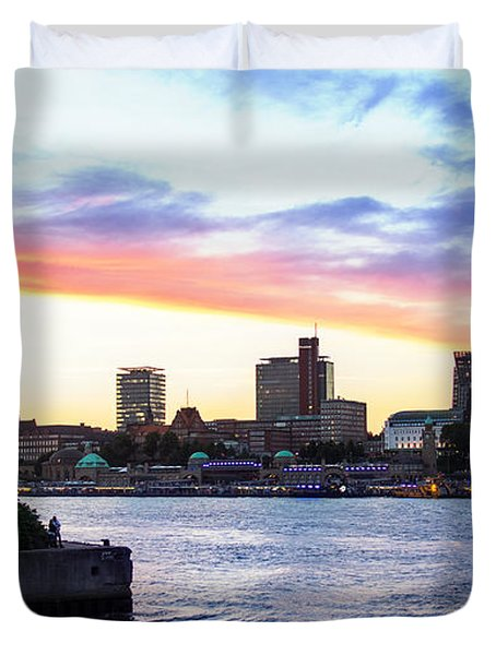 Hamburg Riverside Duvet Cover