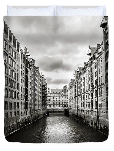 Hamburg Speicherstadt Duvet Cover by Daniel Heine