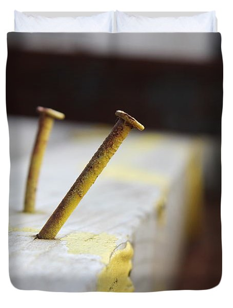 Hammer And Nail Duvet Cover