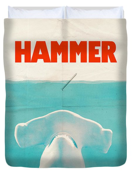 Hammer Duvet Cover by Eric Fan