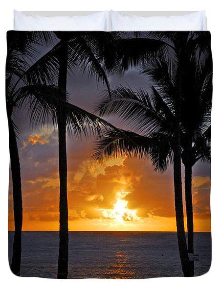 Hammock Sunset Duvet Cover by Lynn Bauer