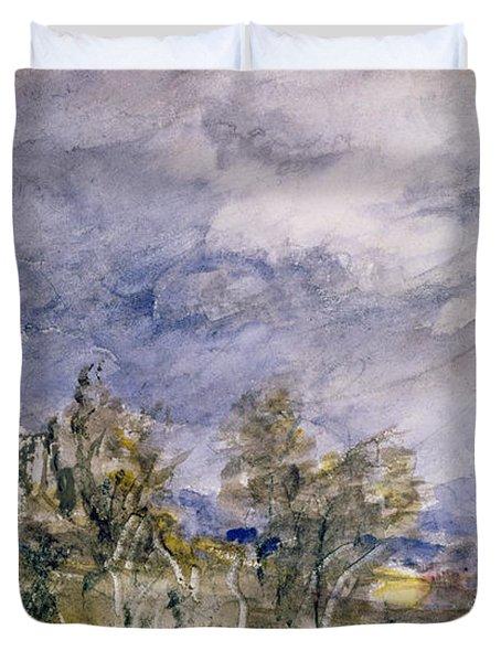 Hampstead Heath From Near Well Walk Duvet Cover by John Constable