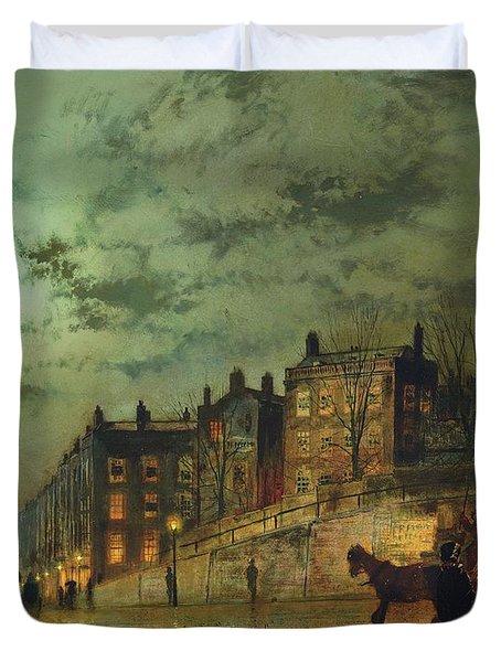 Hampstead Hill, Looking Down Heath Street, 1881 Duvet Cover