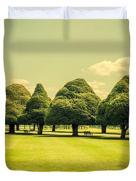 Hampton Court Palace Gardens Summer Colours Duvet Cover
