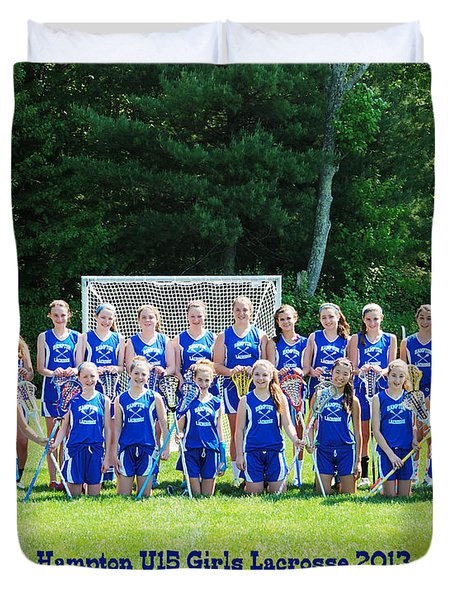 Hampton U15 Girls 2013 Duvet Cover