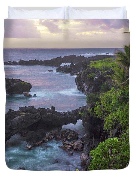 Hana Arches Sunrise 3 - Maui Hawaii Duvet Cover by Brian Harig