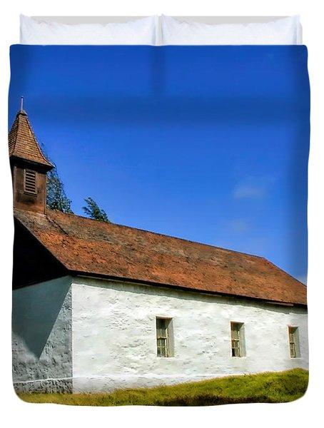 Duvet Cover featuring the photograph Hana Church 1 by Dawn Eshelman