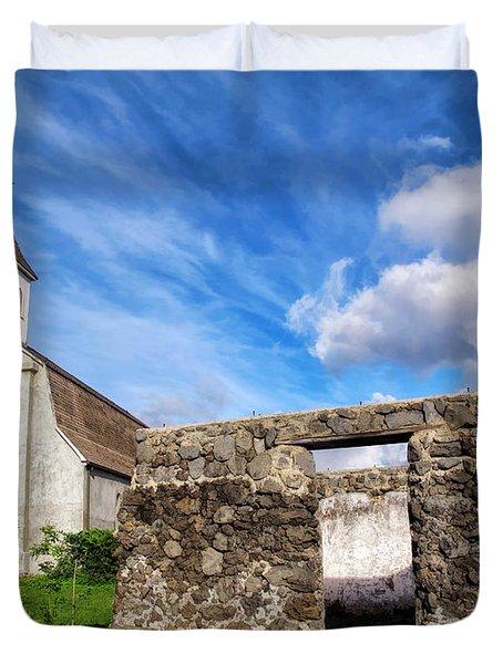 Duvet Cover featuring the photograph Hana Church 8 by Dawn Eshelman