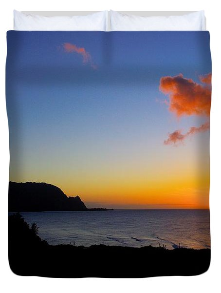 Hanalei Bay Sunset Duvet Cover by John  Greaves
