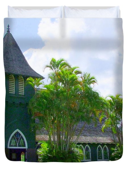 Hanalei Church Duvet Cover by Mary Deal