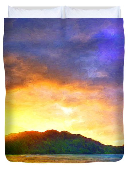 Hanalei Sunset Duvet Cover