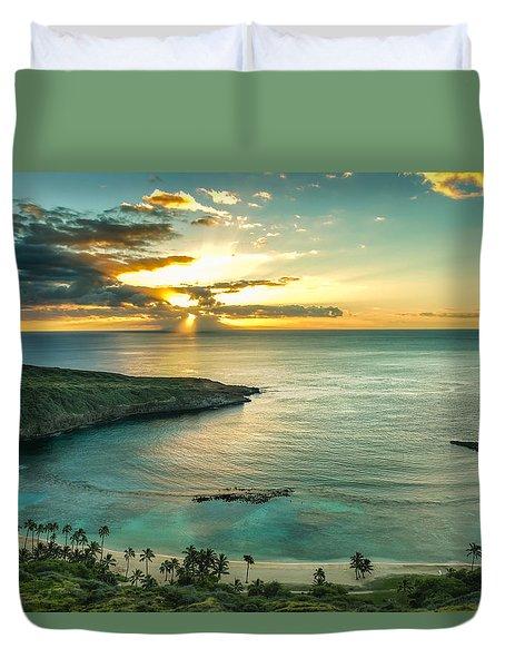 Hanauma Bay 1 Duvet Cover by Leigh Anne Meeks