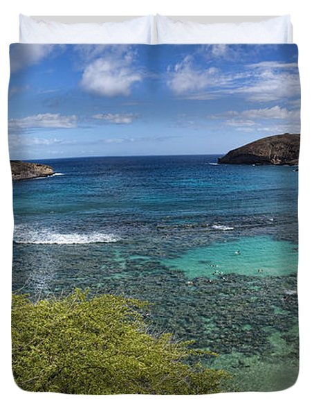 Hanauma Bay Panorama Duvet Cover