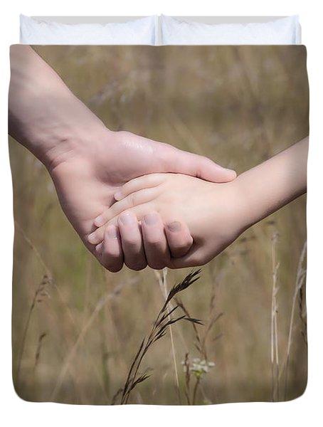 Hand In Hand Duvet Cover by Joana Kruse