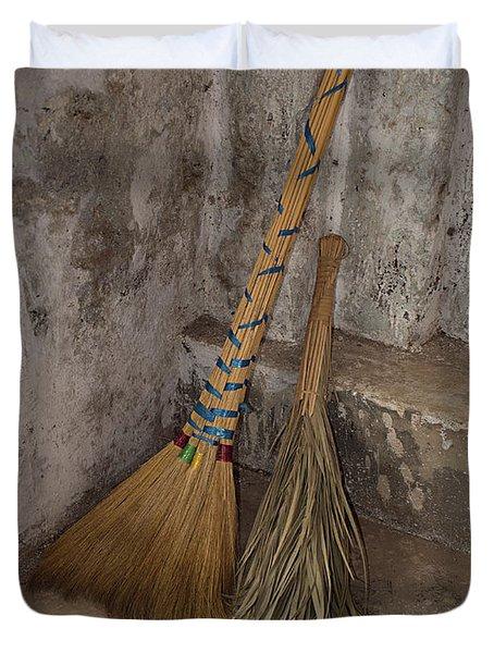 Hand Made Brooms At Shwe Yan Pyay Duvet Cover