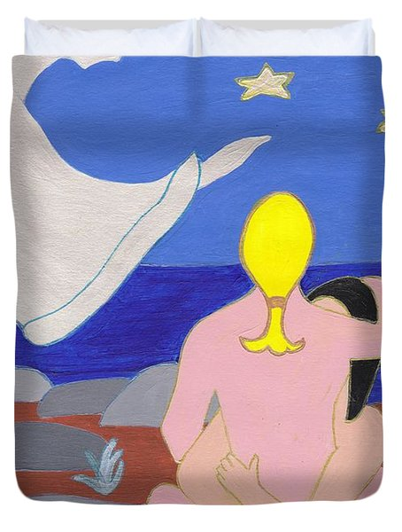 Hand Of An Angle Duvet Cover by Barbara St Jean