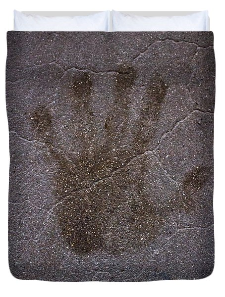 Hand Of Hope Duvet Cover by Joel Loftus