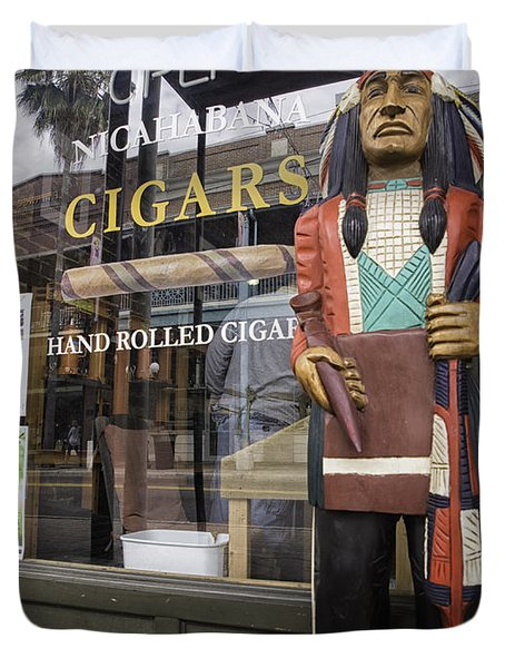 Hand Rolled Cigars Duvet Cover by Fran Gallogly