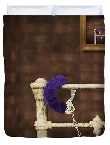 Handcuffs Duvet Cover by Amanda Elwell
