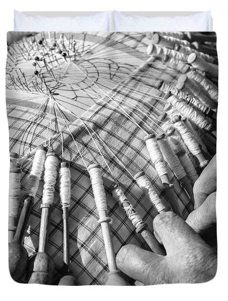 Handmade Lace Work Duvet Cover
