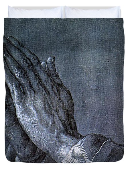 Hands Of An Apostle 1508 Duvet Cover by Philip Ralley