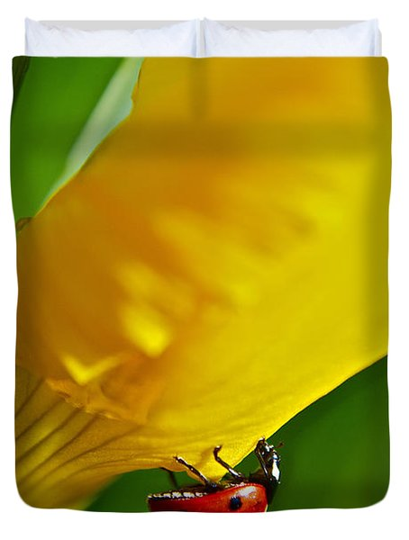 Hang On Duvet Cover by Bill Owen