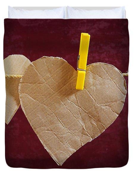 Hanged Heart Duvet Cover by Carlos Caetano
