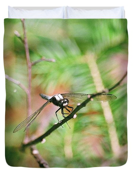 Duvet Cover featuring the photograph Hangin' Out by David Porteus