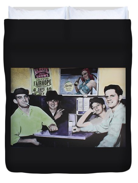 Hanging At The Diner 1949 Duvet Cover