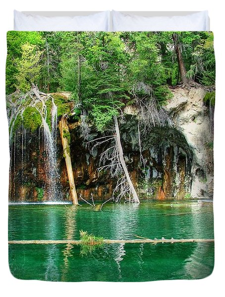 Hanging Lake 1 Duvet Cover by Ken Smith
