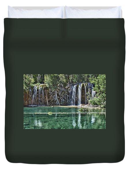 Hanging Lake Duvet Cover