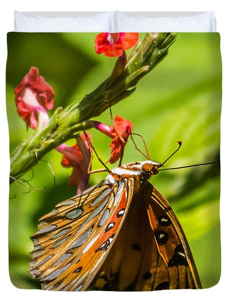 Hanging Off The Side Duvet Cover by Jane Luxton