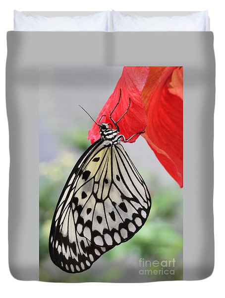 Hanging On #2 Duvet Cover by Judy Whitton