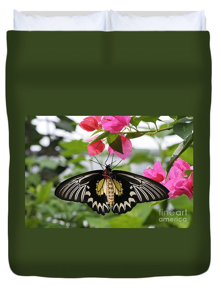 Hanging On Duvet Cover by Judy Whitton