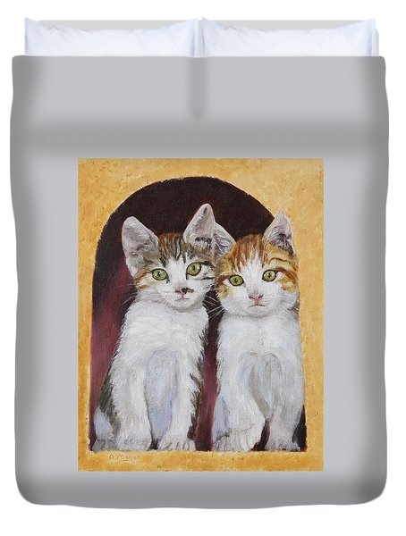 Hanging Out Together Duvet Cover
