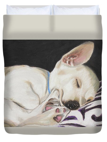 Hanks Sleeping Duvet Cover by Jeanne Fischer