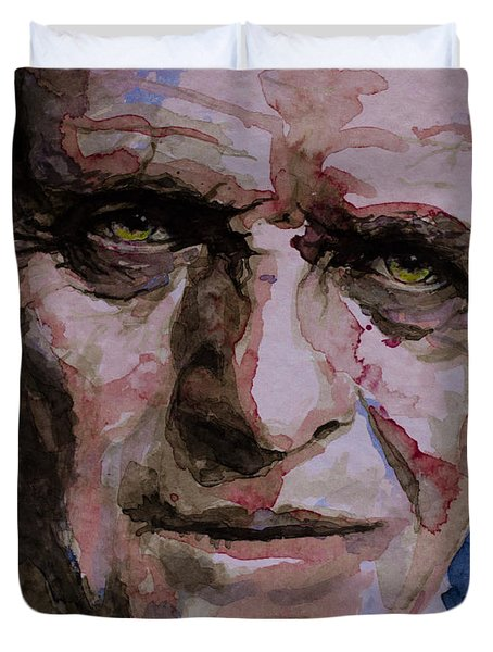 Duvet Cover featuring the painting Hannibal by Laur Iduc
