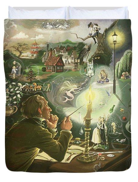Hans Christian Andersen Duvet Cover by Anne Grahame Johnstone