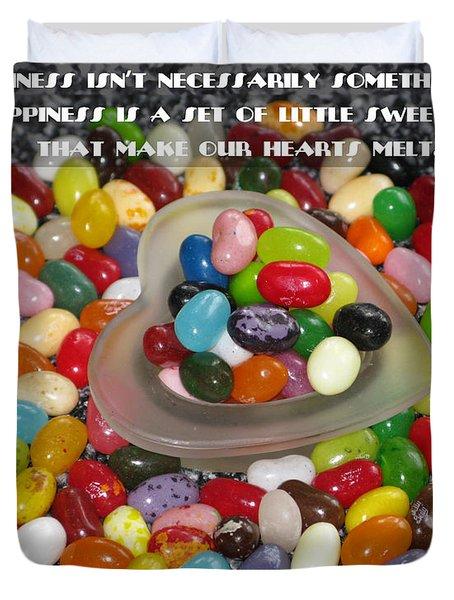 Happiness Is Made Of Tiny Bits Duvet Cover by Ausra Huntington nee Paulauskaite