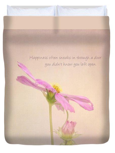 Happiness Duvet Cover by Kim Hojnacki