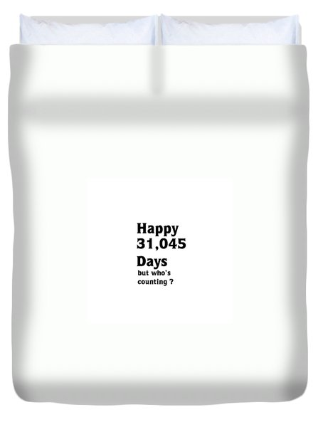 Happy 85th Birthday Duvet Cover