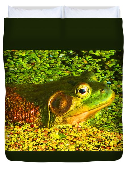 Happy As A Frog In A Pond Duvet Cover